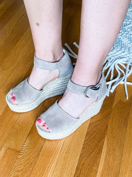 These Mark Fisher wedges are the perfect summer sandals! I will say, they are very high, but for someone petite like me they're perfect!  #LTKshoecrush #LTKSeasonal