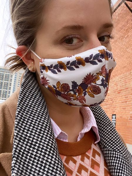 #LTKgiftspo #LTKunder50 #LTKworkwear rocking a fancy mask and unique earrings to the design center this week. http://liketk.it/33b4i #liketkit @liketoknow.it Follow me on the LIKEtoKNOW.it shopping app to get the product details for this look and others