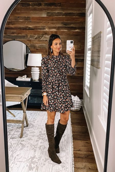 Amazon dress in size small, fall outfit #anna_brstyle