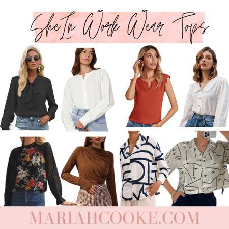 SheIn work wear blouses/tops   #LTKworkwear #LTKunder50 #LTKstyletip