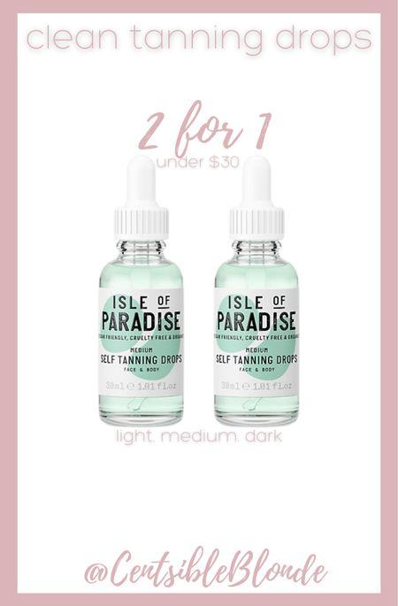 Clean Tanning drops Isle of paradise drops   #LTKtravel #LTKunder50 #LTKbeauty