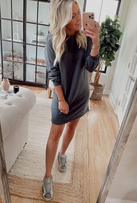 Cutest sweatshirt dress!  I'm in small    #LTKunder50 #LTKbeauty #LTKstyletip
