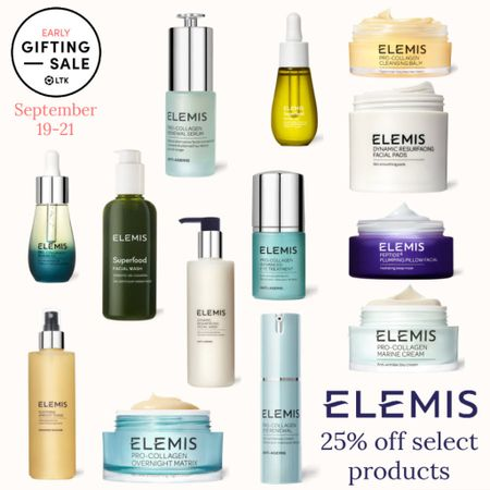 The LTK Early Gifting Sale ends tomorrow! All of your skincare favorites and bestsellers from Elemis are on sale for 25% off through September 21st, only in the LTK app!  . Anti aging collagen eye cream makeup remover balm resurfacing facial pads night cream serum cleanser facial oil toner   #LTKsalealert #LTKSale #LTKunder100