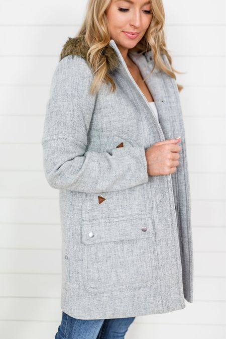 J crew coat // winter coat  Wearing my normal size 4 but if you want to later sweaters I would size up for room in the arms   #LTKsalealert