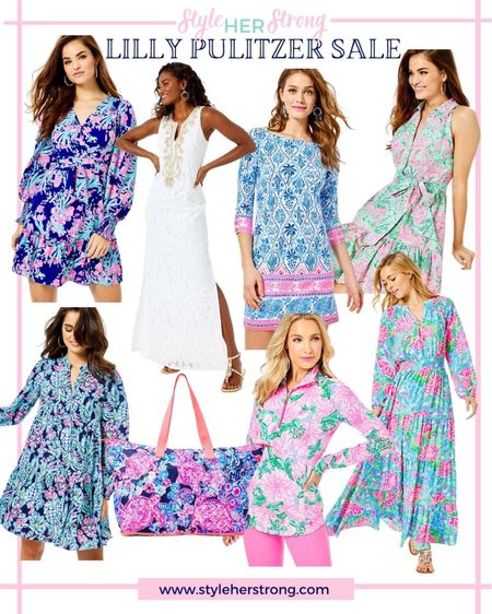 Lilly Pulitzer sale get up to 70% off on resort wear loungewear athletic wear pretty wedding guest dresses mommy and me matching outfits   #LTKtravel #LTKsalealert #LTKwedding