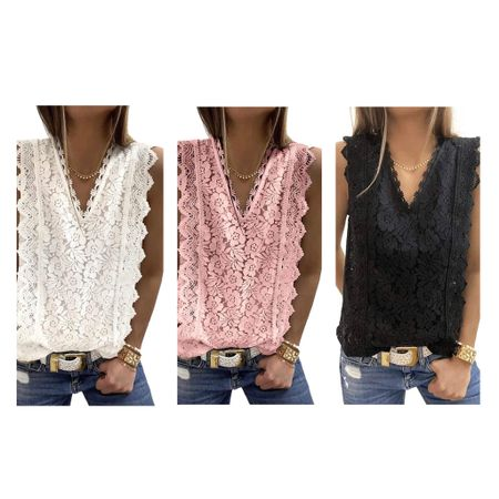 Sale alert. Less than $10 in cart! Lace v neck Tank Tops Lace on Amazon. Fits TTS. I have white and black in a small   #LTKSeasonal #LTKsalealert #LTKunder50