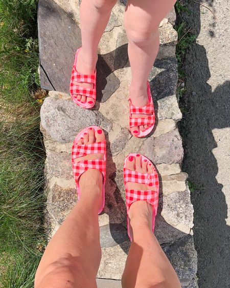 Mommy and me matching in the most comfy sandals ever! This is my second pair and I'm obsessed. Love the fact that I can twin with my mini in this fun neon gingham. 💗❤️ http://liketk.it/3dRKu @liketoknow.it @liketoknow.it.family #liketkit #LTKshoecrush #LTKfamily #LTKunder50