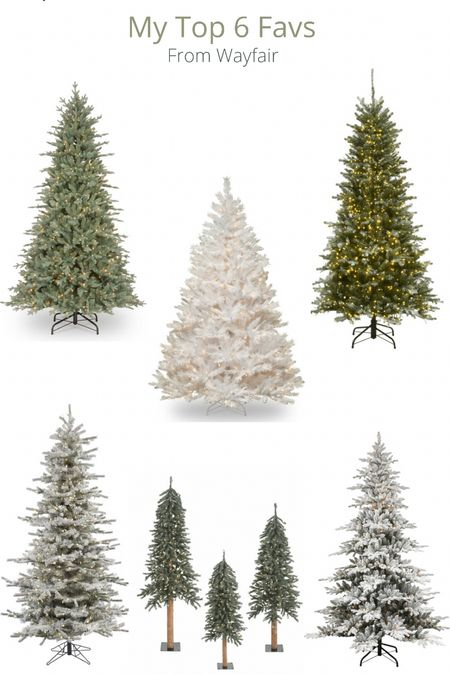 Prelit Christmas Trees -my top favs from Wayfair and some are on SALE!   #LTKSeasonal #LTKHoliday #LTKhome