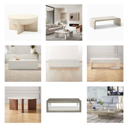 Coffee table. Modern coffee tables. White coffee table. Beige coffee table. Concrete coffee table. Cement coffee table.   #LTKsalealert #LTKstyletip #LTKhome