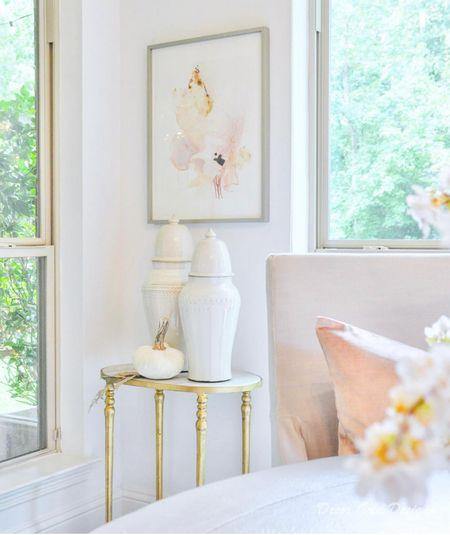 Fall decor in blush Velvet pumpkin in white  Blush art  #LTKSeasonal #LTKhome