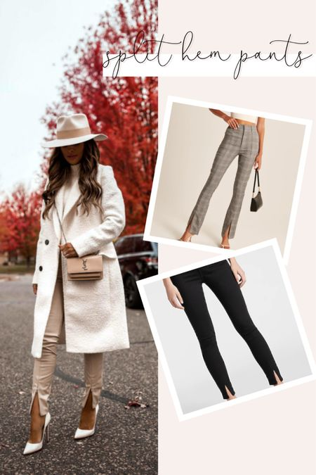 So many good fashion trends for fall. What do you think of the split hem pants? Rounding up a few options!   #LTKunder100 #LTKstyletip