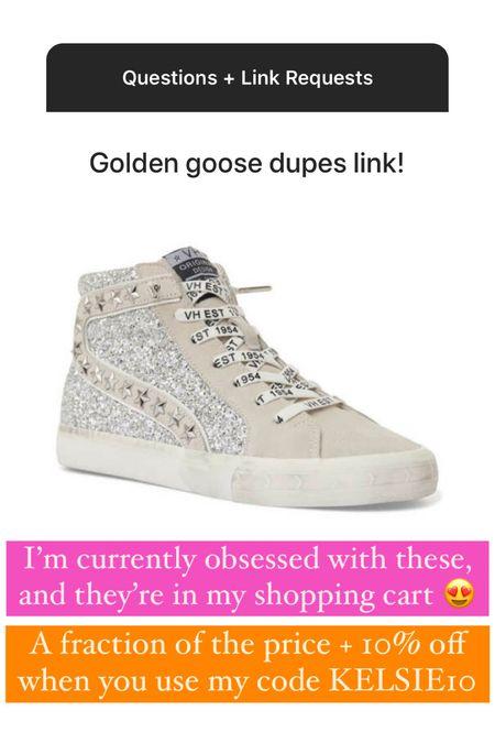 Golden Goose inspired sneakers! Use KELSIE10 for 10% off   #LTKshoecrush #LTKsalealert
