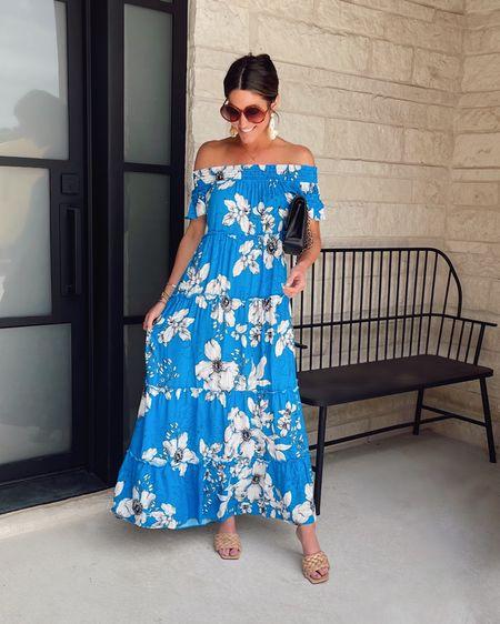 Walmart maxi dress.  Code JEN15 on bag and shoes.  Vacation or wedding guest dress.     @liketoknow.it #liketkit http://liketk.it/3hism #LTKtravel #LTKstyletip #LTKunder50