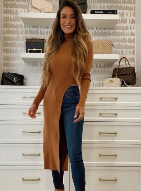 This slit sweater is perfect for fall! Click here to shop!!  #LTKstyletip #LTKHoliday #LTKSale