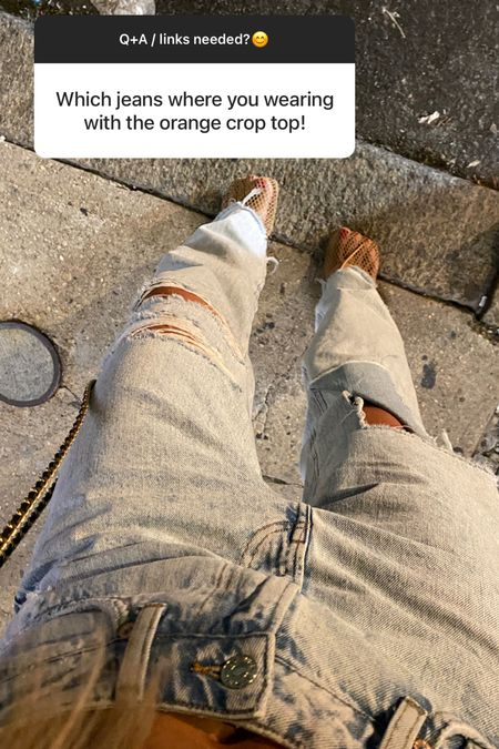 Distressed jeans / low rise  jeans  H&M jeans