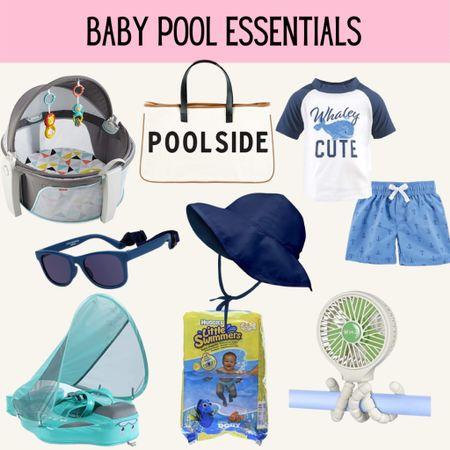 Baby pool essentials, baby float, baby hat, baby sunglasses, baby swim, baby swimsuit http://liketk.it/3gLma #liketkit @liketoknow.it #LTKbump #LTKkids #LTKunder100