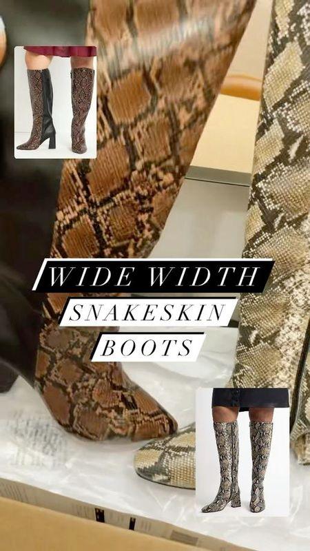 #PlusSize #WideWidth snakeskin boots on sale now from @eloquii   #LTKfamily #LTKsalealert #LTKcurves
