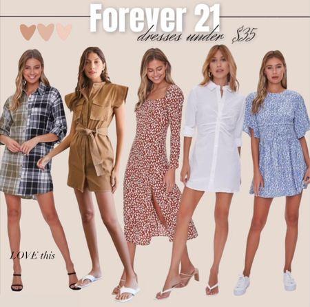 Forever 21 dresses / flannel dress / fall dress / button down dress /   #LTKunder50 #LTKsalealert #LTKstyletip