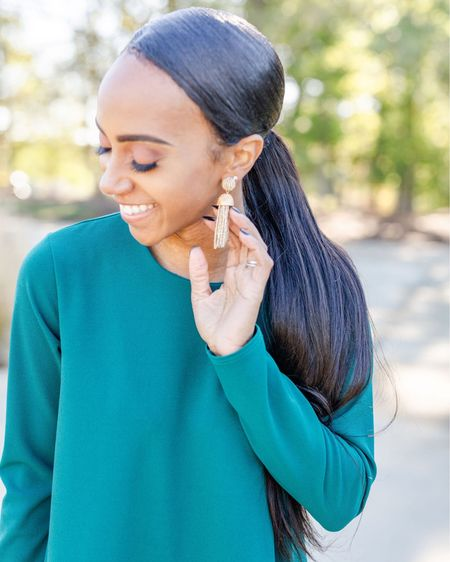 I LOVE me a good Tassel statement earring! 👏🏽 Who am I kidding I love any statement pieces...and many of y'all do too! So head over to #Baublebar - the entire site is 25% off using code FESTIVE25  http://liketk.it/2HVm5 #liketkit @liketoknow.it #LTKholidaystyle #LTKholidaygiftguide #LTKunder100 #baublebar #statementearrings #resortstyle
