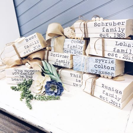http://liketk.it/2zLHi #liketkit @liketoknow.it  Custom Stamped Books Personalized Farmhouse Style Eclectic Boho  Farmhouse Decor  Modern Farmhouse Decor @liketoknow.it.home @liketoknow.it.family #LTKfamily #LTKhome #LTKkids #LTKwedding #LTKunder50 Shop your screenshot of this pic with the LIKEtoKNOW.it app