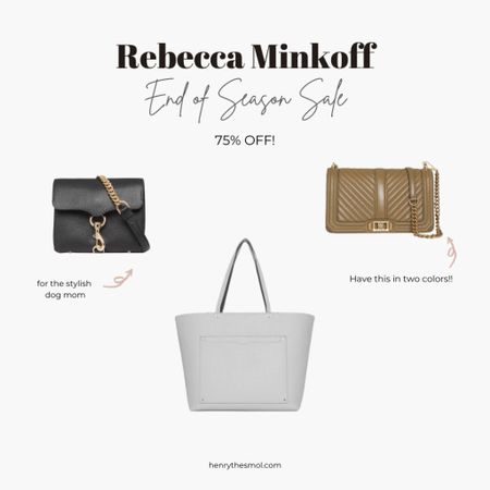 Rebecca Minkoff End of Season Sale! 75% off Love these bags, neutral tones perfect for dog moms, for all seasons!     #LTKitbag #LTKstyletip #liketkit http://liketk.it/3iR1l @liketoknow.it