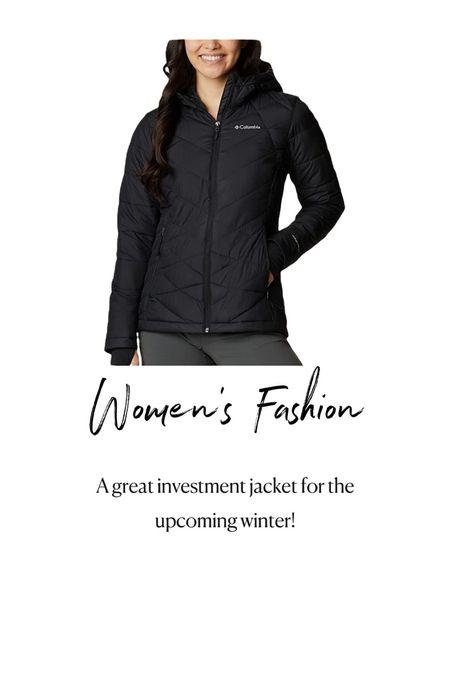 Amazon Fashion. Womens Fashion. Columbia black winter jacket
