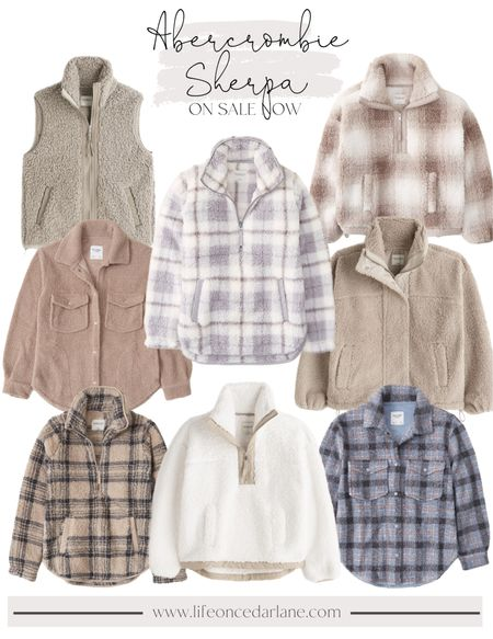 Abercrombie Sherpa on sale now!! These pullovers are always a best seller & last forever, too! Also would make for a perfect Christmas gift!!  #abercrombie #abercrombiesherpasale
