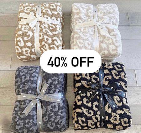 Barefoot dreams dupe  Leopard blanket  Styled collection  Gift ideas for her   #throwblanket #barefootdreamsdupe #barefootdreams #leopardblanket #giftsforher #giftideasforher #cozygifts  #LTKhome #LTKunder100 #LTKSale