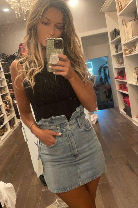 All American lettuce wrap skirt witn Agolde bodysuit that I http://liketk.it/3g7Qa #LTKbeauty Shop my daily looks by following me on the LIKEtoKNOW.it shopping app turned backwards #memorial day @liketoknow.it #liketkit