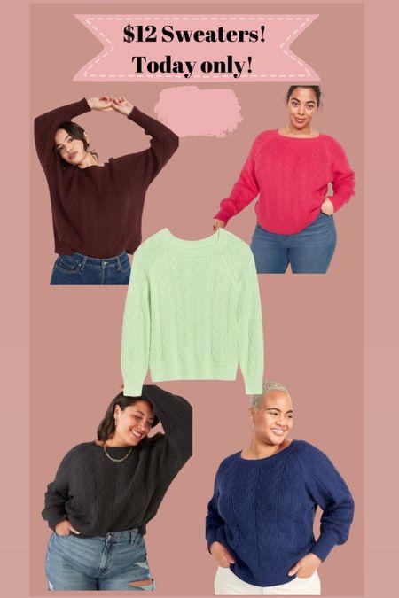 Sweaters only $12   #LTKsalealert #LTKSeasonal #LTKunder50