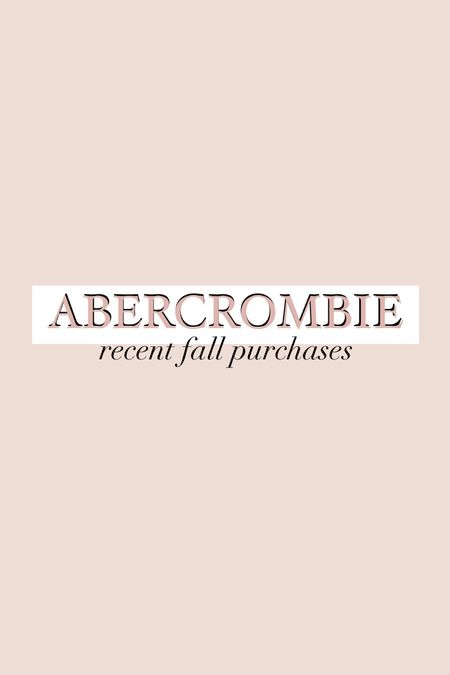 Recent fall purchases from Abercrombie's, including pretty fall floral dresses and even a neutral shacket        #LTKSale