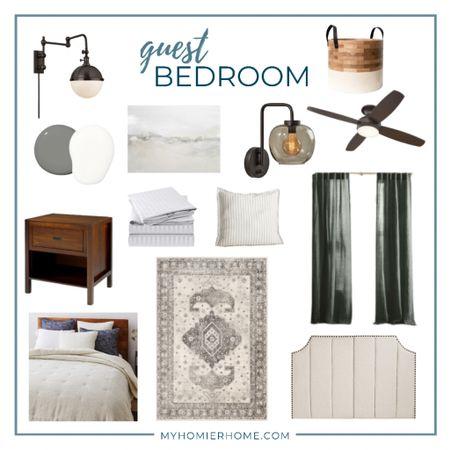 Modern vintage guest bedroom must haves   #LTKhome