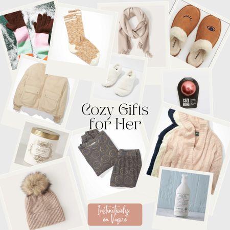 Cozy gift guide for her; Christmas   #LTKGiftGuide #LTKunder100 #LTKHoliday