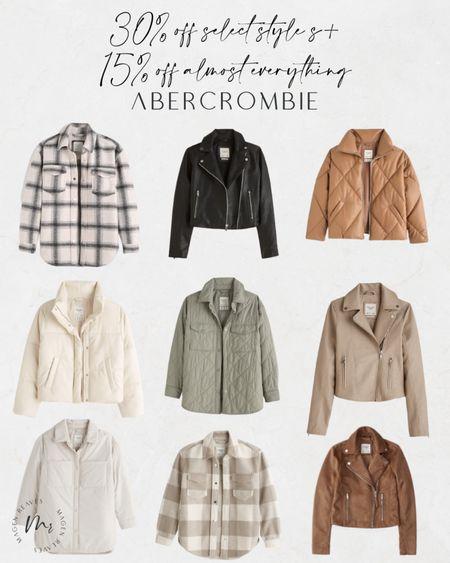 Abercrombie up to 30% off select styles plus 15% off almost everything abercrombie jackets shacket moto jacket http://liketk.it/3opjf @liketoknow.it #liketkit #LTKunder100 #LTKsalealert