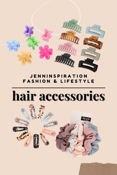 Hair accessories from Amazon. Flower hair clips, claw clips, hair pins, hair scrunched   #LTKstyletip #LTKbeauty #LTKsalealert