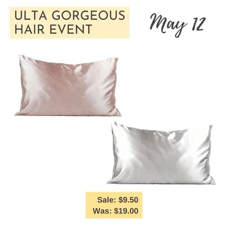 Top recommendation for May 12 Ulta Gorgeous Hair Event Beauty Steal. Kitsch Satin Pillowcase. Great for the skin and hair.  http://liketk.it/3eQ5F #liketkit @liketoknow.it   #LTKbeauty