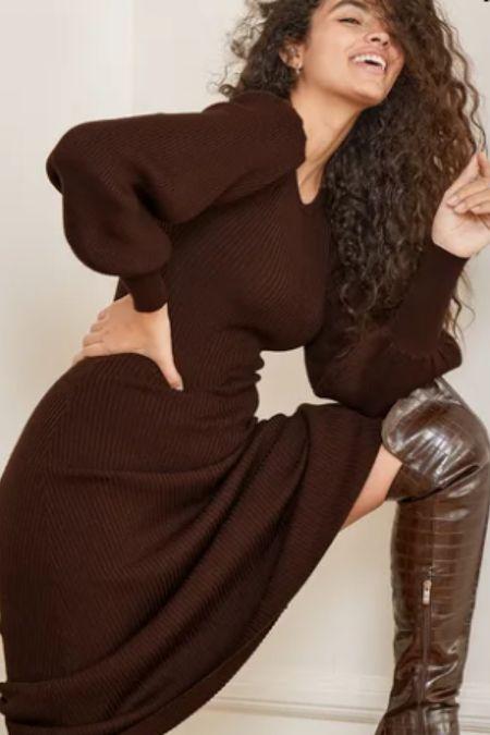 Love the balloon sleeves on this sweater dress. http://liketk.it/32gMs #liketkit @liketoknow.it #LTKsalealert #LTKstyletip #LTKunder100
