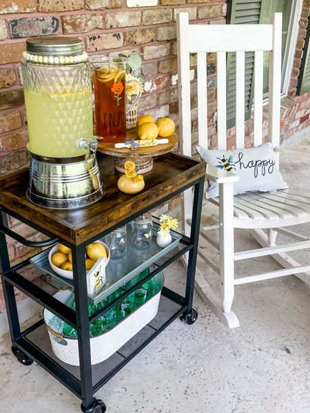 I love sitting on the porch drinking lemonade and seeet tea on a hot summer afternoon. My kitchen bar cart is so easy to roll out to the porch with me. I love that it has 2 shelves to use for glasses, water or whatever you choose.    Shop your screenshot of this pic with the LIKEtoKNOW.it shopping app    @liketoknow.it @liketoknow.it.home #liketkit #LTKunder100 #LTKhome #LTKstyletip http://liketk.it/3jyXZ
