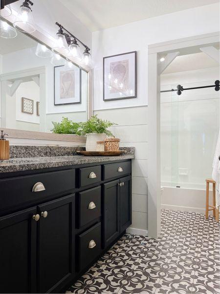 Modern Farmhouse Bathroom makeover   #LTKhome #LTKunder100 #LTKunder50