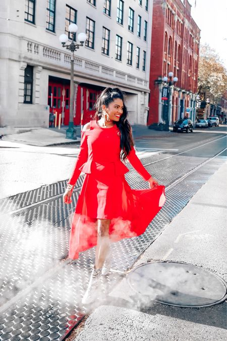 Valentine's Day outfit ideas. Red dress, pink sweater and more #valentinesday #valentinesoutfit #reddress #outfitinspo http://liketk.it/2JoIM #liketkit #LTKbump #LTKfamily #LTKunder50 @liketoknow.it @liketoknow.it.family @liketoknow.it.home Download the LIKEtoKNOW.it shopping app to shop this pic via screenshot