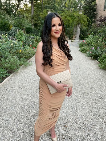 Wedding guest dress revolve Norma Kamali   #LTKwedding #LTKstyletip