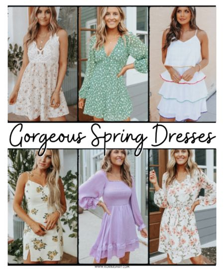 Gorgeous spring dresses!   Pretty spring time dresses all from Magnolia Boutique! Shop some of my favorite spring dresses for spring 2021 🤍   Magnolia boutique, boutique shopping, boutiques, spring dresses, spring time dresses, short dresses, green dress, purple dress, lavender dress, floral dress, flowers dress, ruffle dresses, lace detail dress, spring ootd, spring looks, spring outfits, spring fashion ideas, spring fashion inspiration   #LTKstyletip #LTKunder100 #LTKSeasonal