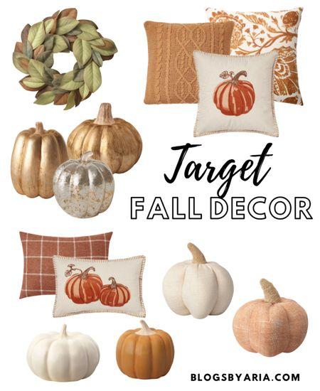 Target fall decor affordable finds $30 and under. Home decor fall decor faux pumpkins fall pillows fall wreath #LTKfall  #LTKhome #LTKSeasonal #LTKunder50