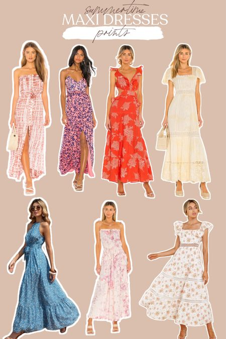 If you like a fun print, these summer maxi dresses are for you!   #LTKDay