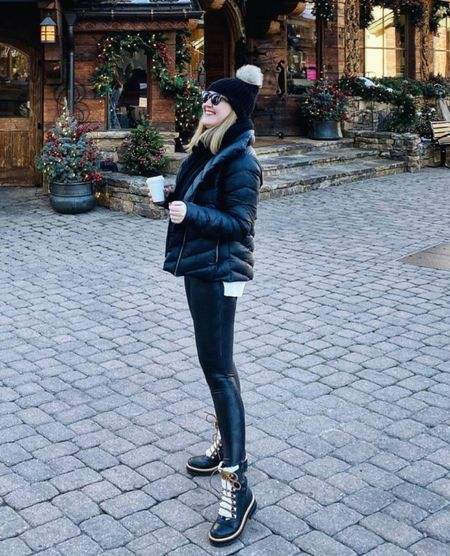 Winter boots from Marc Fisher on sale Snow boots Chic boots Leather leggings Faux leather leggings Spanx  Winter style Winter outfit   #LTKHoliday #LTKSeasonal #LTKsalealert
