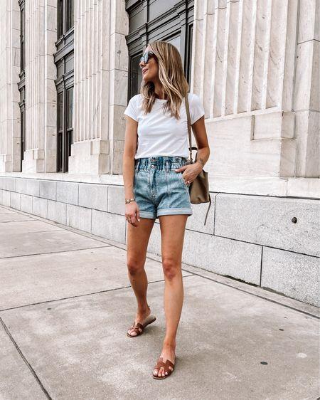 Summer basics from Abercrombie. White tee (small / tts) #denimshorts (tts) #summerfashion http://liketk.it/3gYkD #liketkit @liketoknow.it #LTKunder50 #LTKunder100 #LTKstyletip