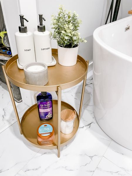 Bathroom organizer, bathroom two tiered table   #LTKunder50 #LTKhome #LTKstyletip