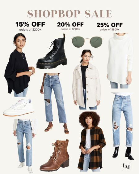 Shopbop buy more save more sale! Save up to 25% off with code STYLE. Great time to grab some of my staple favorites like Doc Martens, Rayban sunglasses & Agolde jeans 🙌🏼  #LTKsalealert #LTKHoliday #LTKGiftGuide