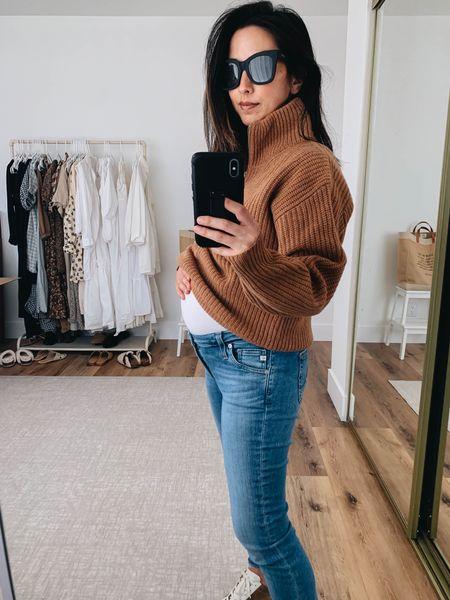 New Everlane half zip sweater.   Sweater - Everlane xxs Jeans - AG 24 Sunglasses - Quay    #LTKbump
