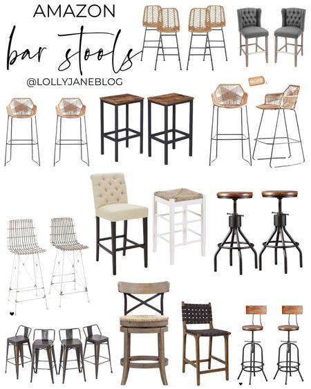Amazon bar stools!  Lolly Jane Blog | #LollyJaneBlog   #LTKunder100 #LTKhome #LTKunder50